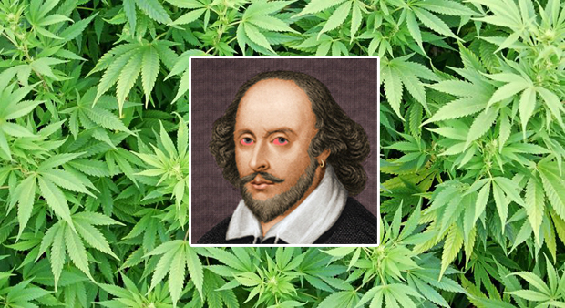 Study Finds That Shakespeare Most Likely Smoked Weed